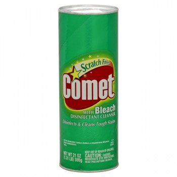 Comet Disinfectant Powder Cleanser with Bleach Scratch Free