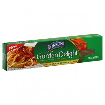 Ronzoni Garden Delight Pasta Spaghetti Enriched Tomato Carrot & Spinach