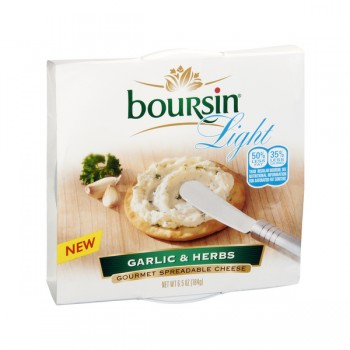 Boursin Gourmet Spreadable Cheese Garlic & Herbs Light