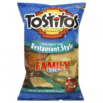 Tostitos Tortilla Chips Restaurant Style White Corn Family Size