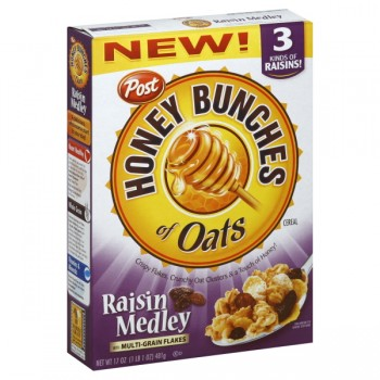 Post Honey Bunches of Oats Cereal Raisin Medley