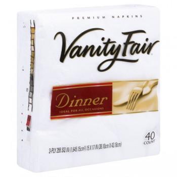Vanity Fair Dinner Napkins White 3-Ply