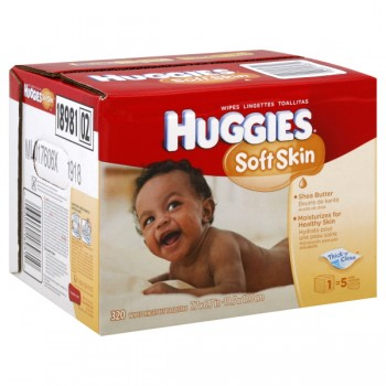 Huggies Soft Skin Baby Wipes with Shea Butter Refill