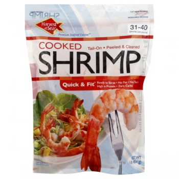 Harvest Of The Sea Shrimp Tail-On Cooked Large - 31-40 ct Frozen