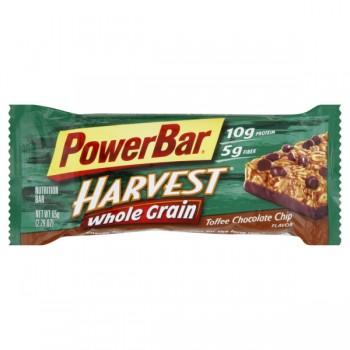 PowerBar Harvest Whole Grain Energy Bar Toffee Chocolate Chip