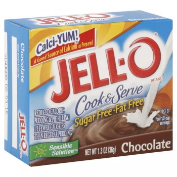 Jell-O Cook & Serve Pudding & Pie Filling Chocolate Fat Free Sugar Free