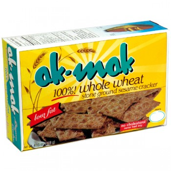 AK MAK Crackers 100% Whole Wheat Stone Ground Sesame