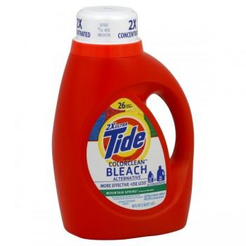Tide 2X Ultra Liquid Laundry Detergent Bleach Alternative Mountain Spring