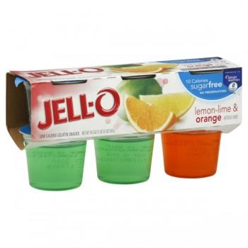 Jell-O Gelatin Cups Sugar Free Lemon Lime & Orange - 6 ct