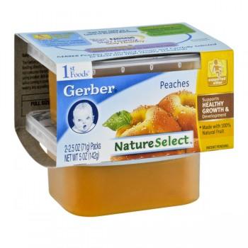 Gerber 1st Foods Nature Select Peaches - 2 pk