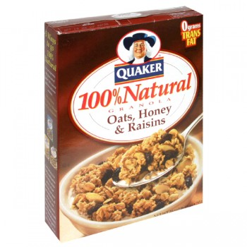 Quaker Granola with Oats, Honey & Raisins 100% Natural