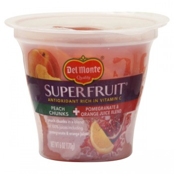 Del Monte SuperFruit Peach Chunks in Pomegranate & Orange Juice Blend