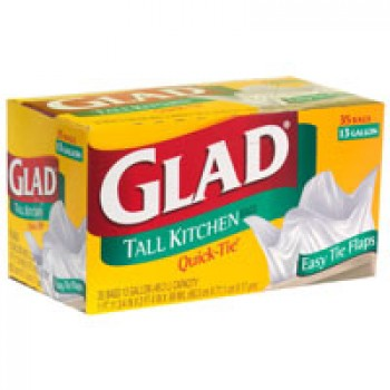Glad Quick-Tie Kitchen Bags Tall 13 Gallon