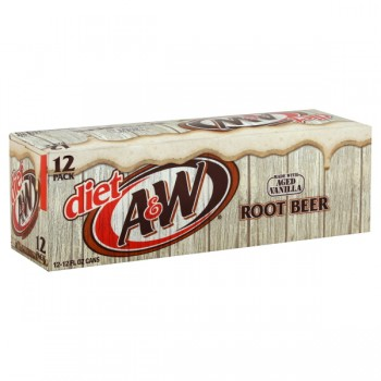 Diet A & W Root Beer -12 pk