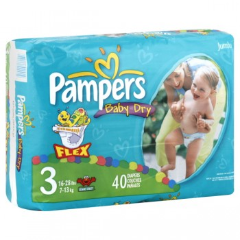 Pampers Baby-Dry Diapers Size 3 Both Jumbo Pack - 16-28 lbs