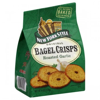 New York Style Original Bagel Crisps Roasted Garlic