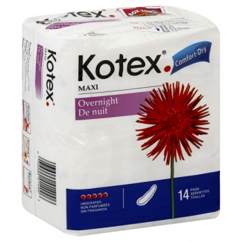 Kotex Maxi Pads Heaviest Flow Overnight