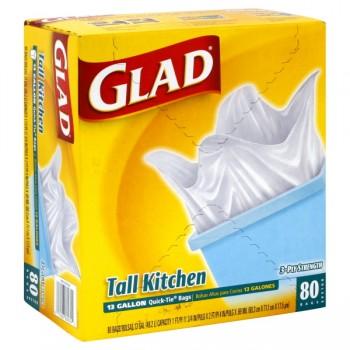 Glad Quick-Tie Kitchen Bags Tall 13 Gallon