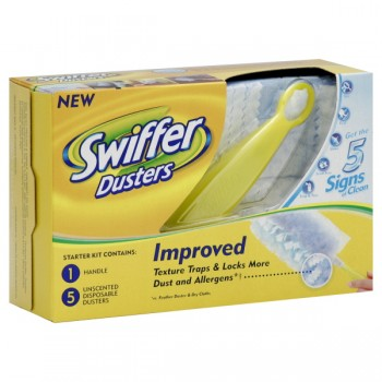 Swiffer Dusters with Short Handle 1 Handle & 5 Disposable Dusters