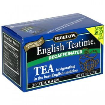 Bigelow English Teatime Black Tea Bags Decaffeinated