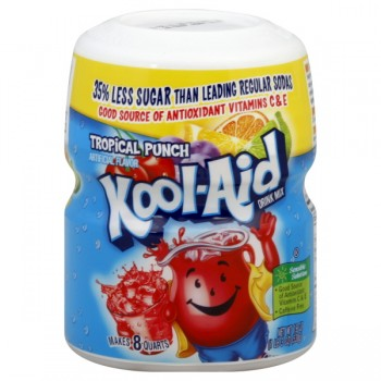 Kool-Aid Tropical Punch Drink Mix Sugar Sweetened - Makes 8 Quarts