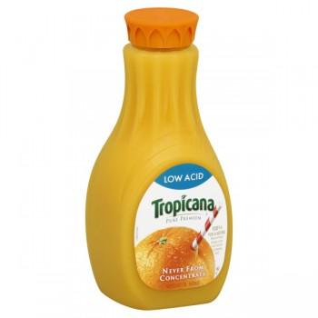 Tropicana Pure Premium 100% Pure Orange Juice Low Acid Pulp Free