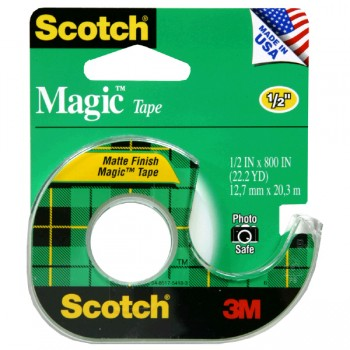 3M Scotch Magic Tape with Dispenser .5 X 800 Inch