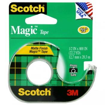 3M Scotch Magic Tape with Dispenser .5 X 800 Inch