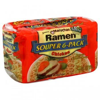 Maruchan Ramen Noodle Soup Chicken Flavor - 6 ct