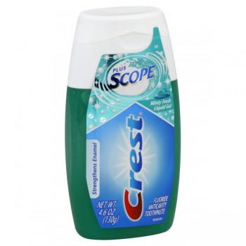 Crest Plus Scope Toothpaste Liquid Gel Minty Fresh