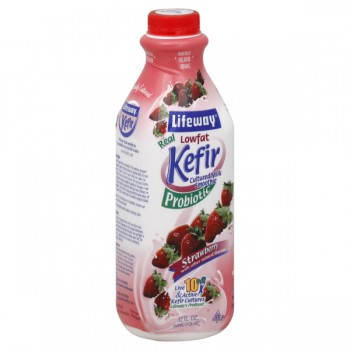 Lifeway Kefir Probiotic Cultured Milk Smoothie Strawberry Low Fat