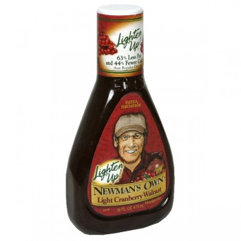 Newman's Own Lighten Up! Salad Dressing Cranberry Walnut Vinaigrette
