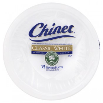 Chinet Compartment Plates Paper 10 3/8 Inch