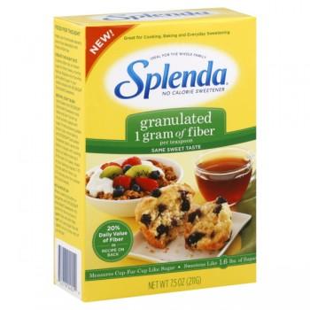 Splenda No Calorie Sweetener with Fiber Granulated