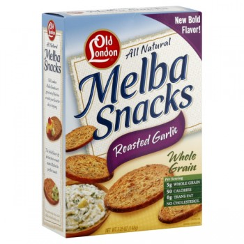 Old London Melba Snacks Roasted Garlic Whole Grain