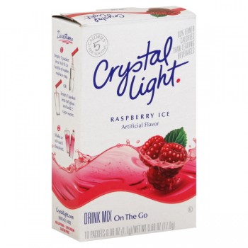 Crystal Light Raspberry Ice Drink Mix On The Go - 10 ct