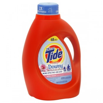 Tide 2X Ultra Concentrated Liquid Laundry Detergent with Downy April Fresh