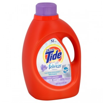 Tide 2X Concentrated Liquid Laundry Detergent HE Febreze Spring & Renewal