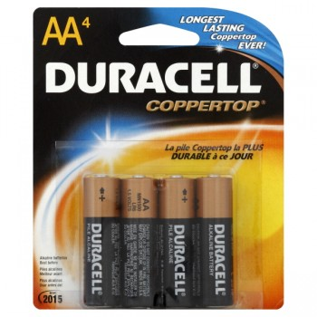 Duracell Coppertop Alkaline Batteries Size AA