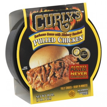 Curly's Chicken Pulled Hickory Smoked with Barbeque Sauce Fresh