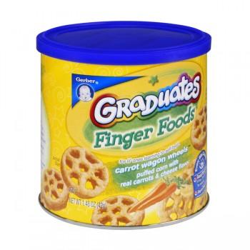 Gerber Graduates Finger Foods Cheesy Carrot Wagon Wheels