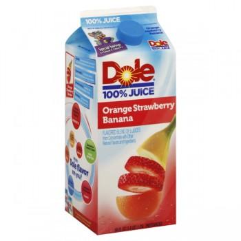 Dole 100% Orange Strawberry Banana Juice Blend