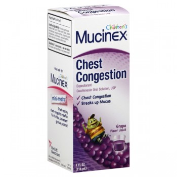 Mucinex Children's Chest Congestion Expectorant Grape Flavored Liquid