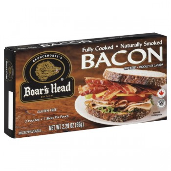Boar's Head Bacon Fully-Cooked 2 Pouches - 7 Slices Each