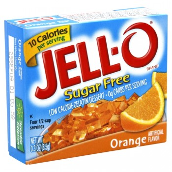 Jell-O Gelatin Dessert Orange Sugar Free