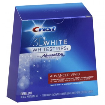 Crest 3D White Whitestrips Dental Whitening Kit Advanced Vivid