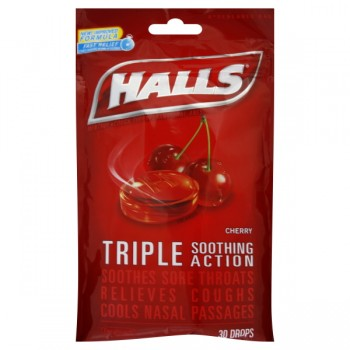 Halls Cough Drops Mentholyptus Cherry