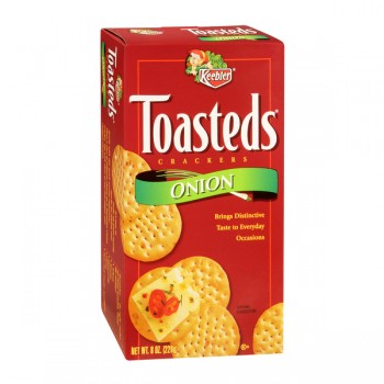 Keebler Toasteds Crackers Onion