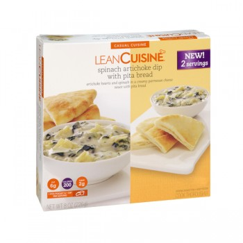 Lean Cuisine Casual Cuisine Spinach Artichoke Dip with Pita Bread