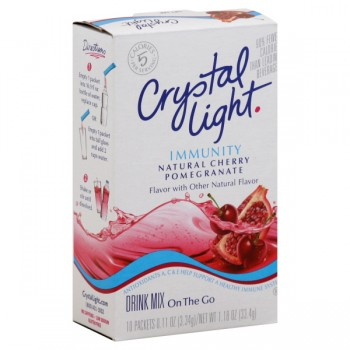 Crystal Light Immunity Cherry Pomegranate Drink Mix On The Go - 10 ct